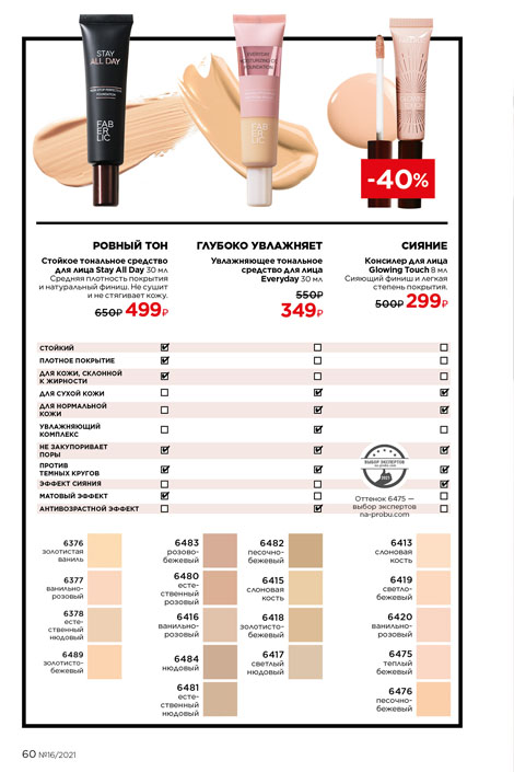 Каталог Фаберлик 16 2021 страница 60